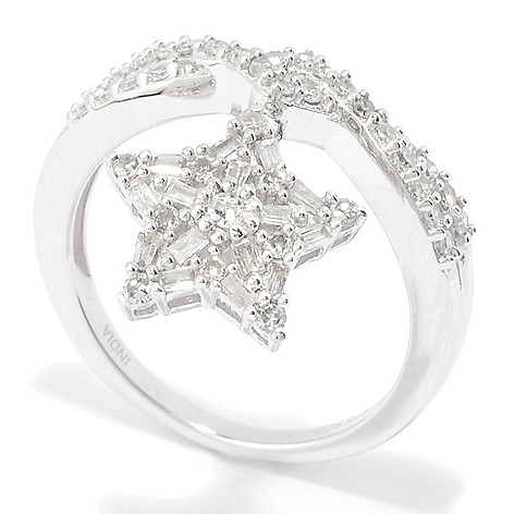 Diamond_Treasures®_Sterling_Silver Diamond_Sun,_Heart_or_Star Charm_Ring