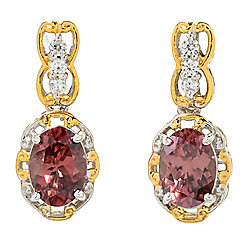 Gems en Vogue 2.54ctw Rose & White Zircon Drop Earrings