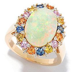 ec23cf17fe Gems of Distinction™ 14K Gold 14 x 10mm Ethiopian Opal