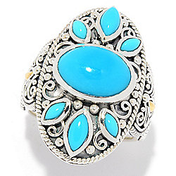 Artisan Silver by Samuel B. Sleeping Beauty Turquoise Textured Ring