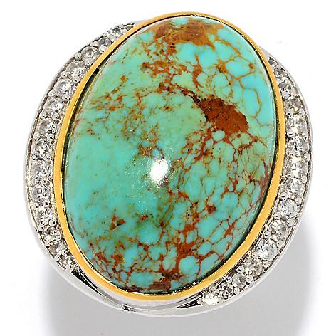 Gem Insider®, 24 x 16mm, Oval Gemstone, & White Zircon, North-South Ring on  sale at evine com