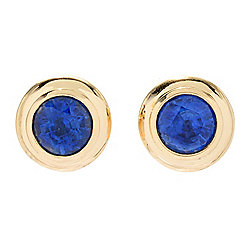 Gem Insider® 14K Gold 1.66ctw Round Blue Kyanite Stud Earrings