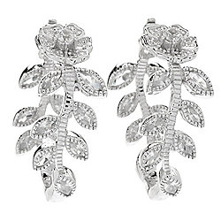 "NYC II® 1.25"" or 1.75"" White Zircon Inside-out Flower Hoop Earrings"