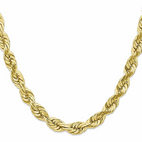 "Italian_18K_Gold_Embraced™_or_Sterling_Silver_24""_Thick_Rope_Chain_Necklace"