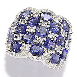 Up to 40% off Rings - NYC II® 6.00ctw Iolite & White Zircon Multi Row Band Ring - 176-999