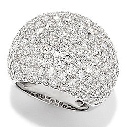 Diamond - EFFY Pave Classica 14K White Gold 6.71ctw Diamond Dome Ring - 177-591