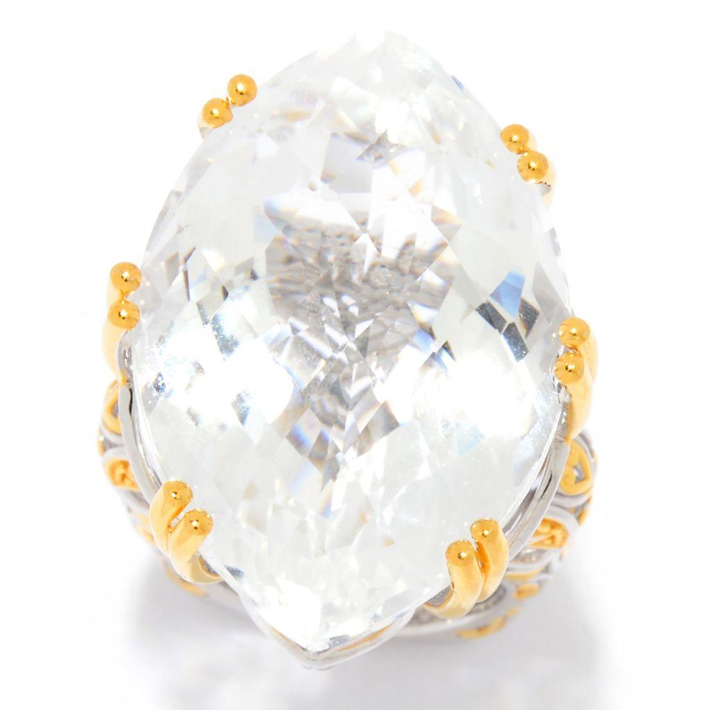 Gems en Vogue Cento Facet White Quartz Cocktail Ring - 177-754