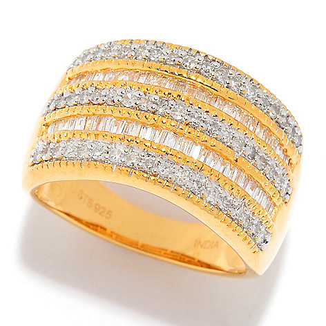 Diamond_Treasures® 0.74ctw_Diamond Multi_Row Band_Ring