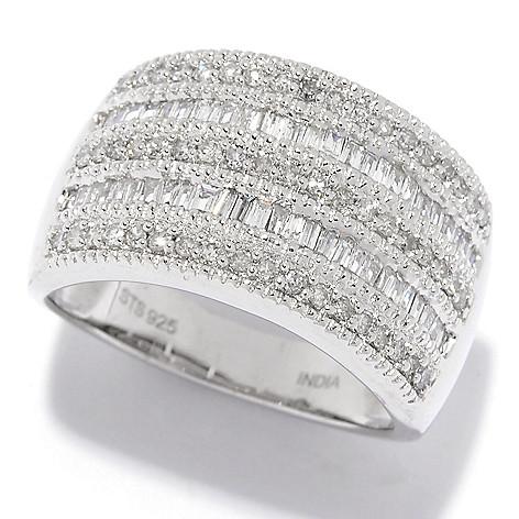 Diamond_Treasures® 0.74ctw_Diamond Multi_Row Band_Ring