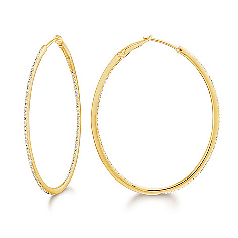 Dettaglio_14K_Gold_Diamond_Choice_of_Size_Oval_Hoop_Earrings