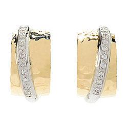 Torinni 1369 - TORRINI 1369 Classic Nancy 14K Two-tone Gold 0.30ctw Diamond Hoop Earrings - 178-300