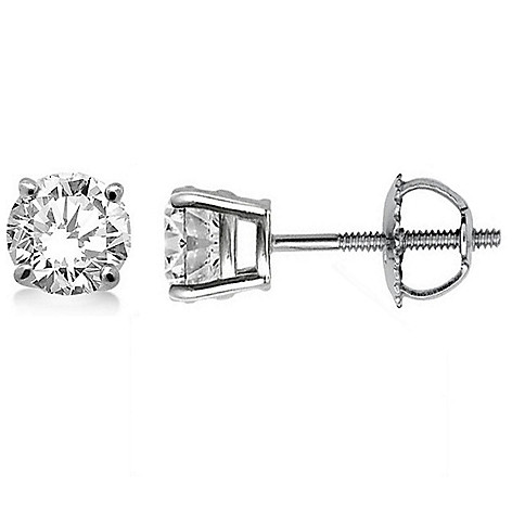 07fe0fe4f 178-478- éthique 14K White Gold Choice of Carat Lab Grown Diamond Stud  Earrings
