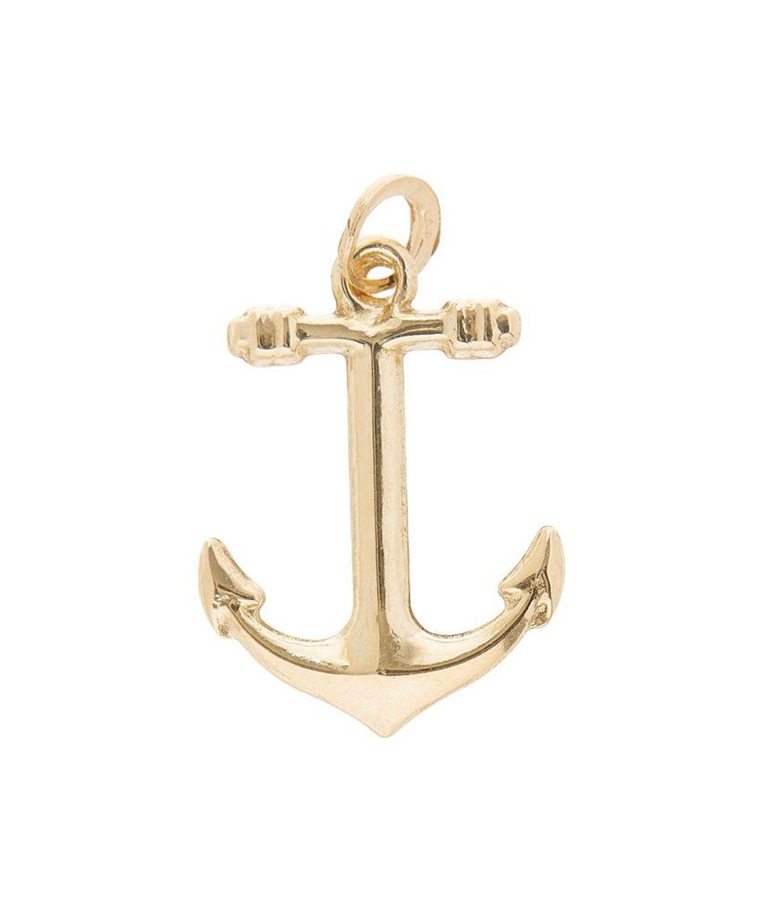 Italian 14k Gold Anchor Charm Evine
