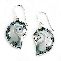 Artisan Silver by Samuel B. 1.5 Freeform Shell Drop Earrings - 179-261