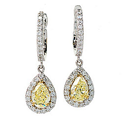 Gems Of Distinction 14k Two Tone Gold 1 25ctw Natural Color Yellow White