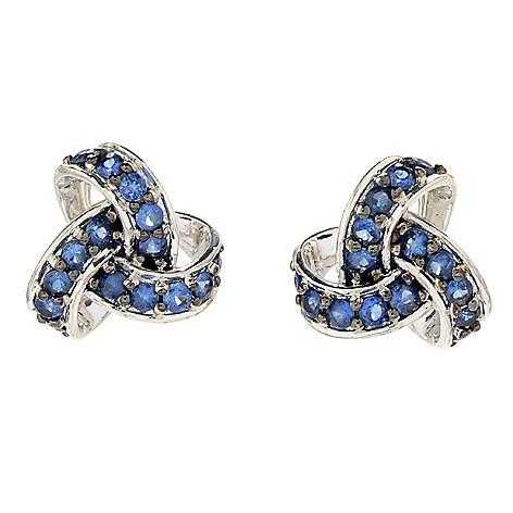 7669d2b61 179-335- Gem Treasures® 1.15ctw Ceylon Blue Sapphire Love Knot Stud Earrings