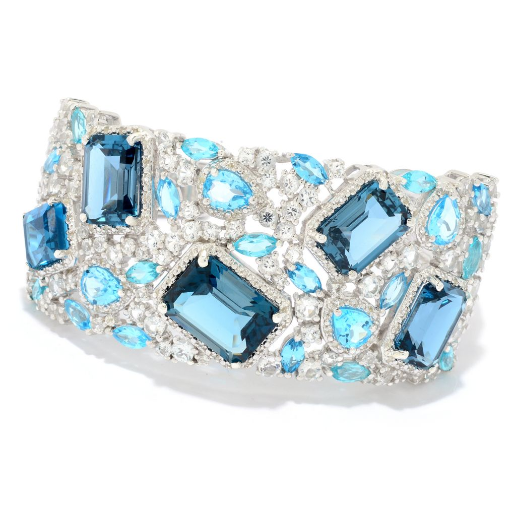 Gem Treasures London Blue Topaz Bracelet - 179-352