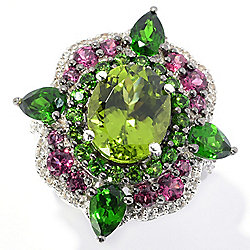 478e773ff Victoria Wieck Collection 5.76ctw Oval Peridot & Multi Gem Ring