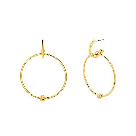 Steve Madden Gold Tone 2 5 Front Facing Hoop Earrings Evine