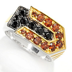 Men's en Vogue Final Cut 1.57ctw Black Spinel & Mocha Zircon Inlay Arrow Ring