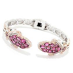 Gems en Vogue Final Cut 4.84ctw Pink Tourmaline Cluster Kissing Cuff Bracelet - 179-788