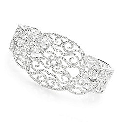 Diamond - Diamond Treasures® Kathy's Collection 6.5 or 7 0.86ctw Diamond Lace Cuff Bracelet - 179-881
