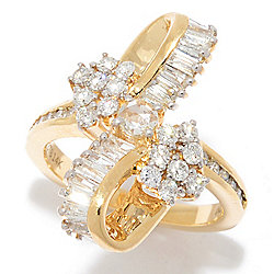 "Diamond Treasures® Kathy's Collection ""Waterfall"" 14K Gold 1.35ctw Diamond Ring"