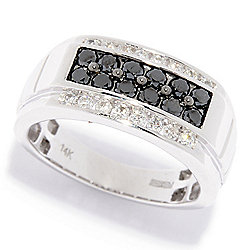 a75b7efffb8a58 EFFY Men's 14K White Gold 0.95ctw Diamond Ring