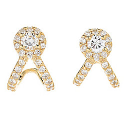 Sonia Bitton Galerie de Bijoux® Choice of 14K Gold 0.86ctw Diamond Cuff Stud Earrings