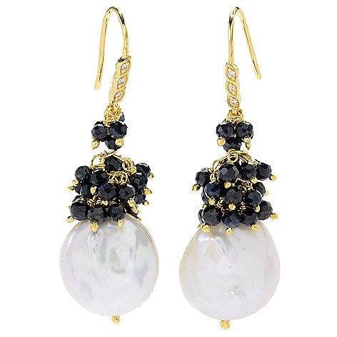 Hilary_Joy_Couture 18K_Gold_Embraced&trade 175_Freshwater Cultured_Pearl_& Gemstone_Drop_Earrings