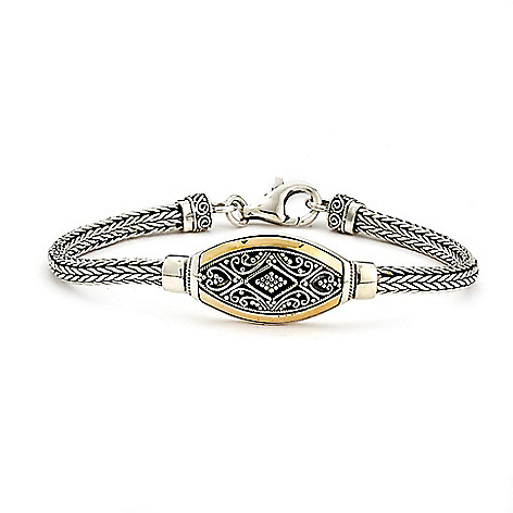 adef9b05bb9 Artisan Silver by Samuel B. 18K Gold Accented 6.5