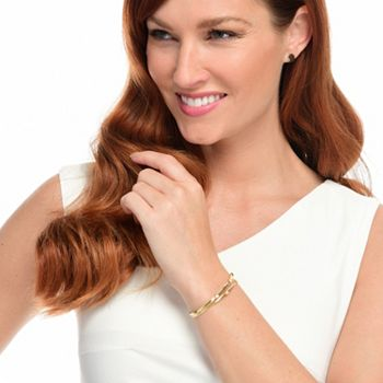 Galerie de Bijoux 20th Anniversary Savings  180-406 - Sonia Bitton Galerie de Bijoux® 14K Gold 0.25ctw Diamond 2-Row Wire Wrap Bracelet - 180-406