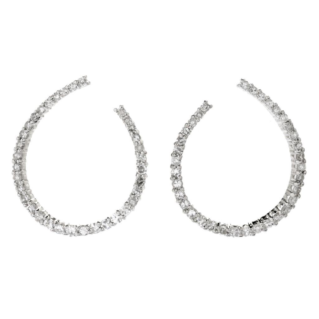Diamond Treasures® Oval Hoop Earrings - 180-485