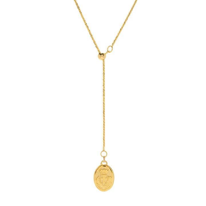 New Items Added Daily at Lowest Prices Ever at ShopHQ | 180-723 Stefano Oro 14K Gold Semi-Solid Italian City Necklace, 3.23 grams