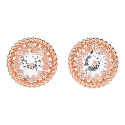 Gem Insider® 4.00ctw Danburite Stud Earrings w/ Jackets