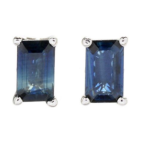 9fc7c3815 180-809- Gems en Vogue Sterling Silver Choice of Shape Sapphire Stud  Earrings
