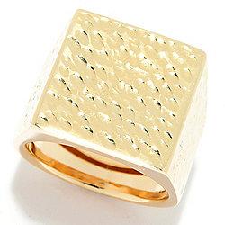 14K - Gold of Distinction™ 14K Gold Martellato Tapered Ring, 4.4 grams - 181-024