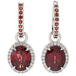 "Gem Insider® Sterling Silver 1"" 5.45ctw Pyrope Garnet Drop Earrings"
