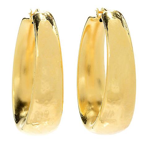 0b71a93d31625 Toscana Italiana, 18K Gold Embraced™, Choice of Size &, Finish Graduated,  Hoop Earrings
