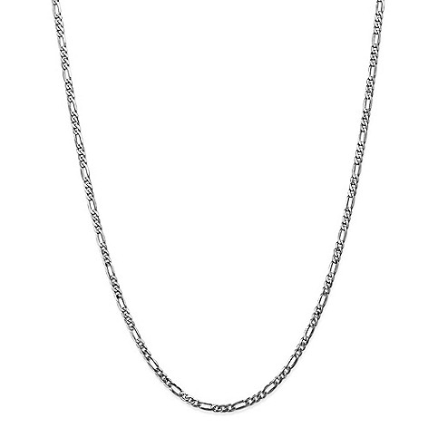 Gold_Standard_Jewelry_Company_14K_Gold_Choice_of_Length_3mm_Flat_Figaro_Chain_Necklace