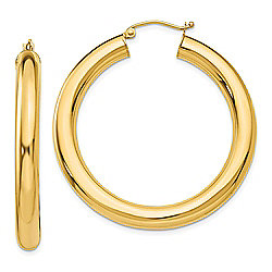 2838f7004 Gold Standard Jewelry Company 14K Gold Choice of Length Tube Hoop Earrings,  4.38 grams