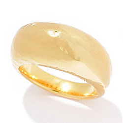 Toscana Italiana 18K Gold Embraced™ Acqua Bagnata Hammered Dome Ring