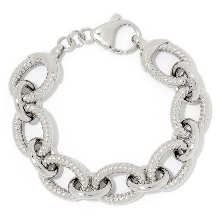 Sorrento Italian Silver Stand out With Seaside Style at ShopHQ 182-373 Sorrento Italian Silver Choice of Length Alternating Link Bracelet