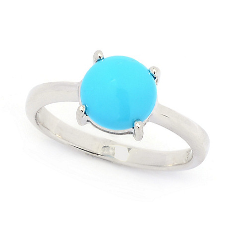 493fd04cb 182-550- Gemporia Sterling Silver Sleeping Beauty Turquoise Solitaire Ring