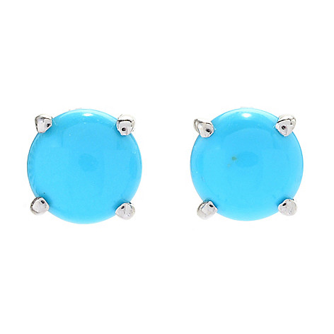 efeee3762 182-556- Gemporia Sterling Silver Sleeping Beauty Turquoise Stud Earrings