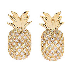 Beverly Hills Elegance® 14K Gold 0.20ctw Diamond Pineapple Stud Earrings