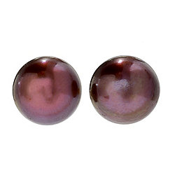 Kwan Collections 14K Gold Embraced™ 9-10mm Mocha Cultured Pearl Stud Earrings