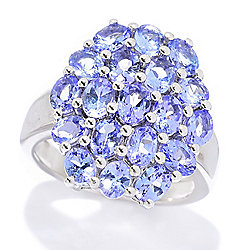 Gemporia 2.35ctw Oval Tanzanite Cluster Ring