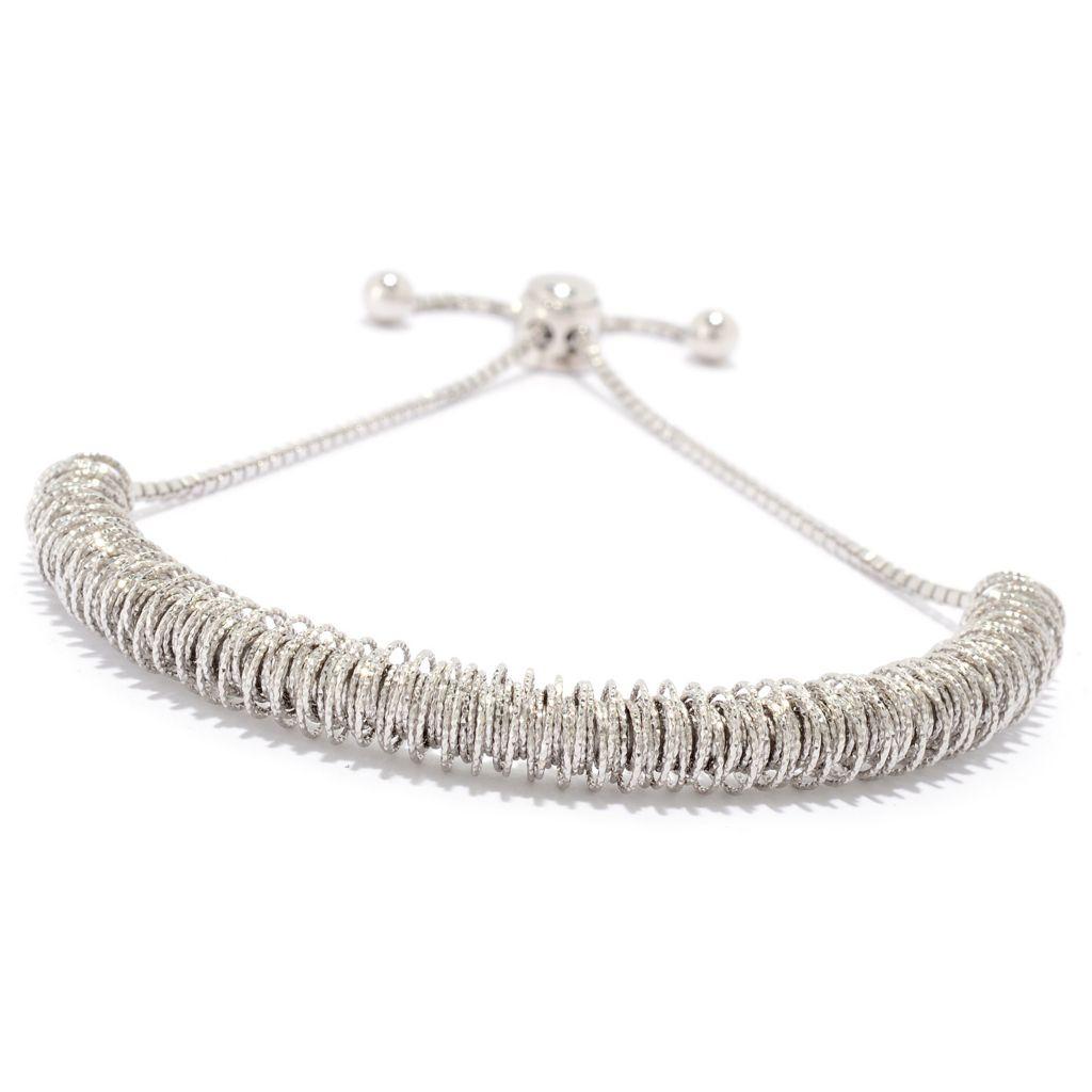 Albany Irvin, Collection, Diamond Cut, Wrapped Adjustable, Slide Bracelet