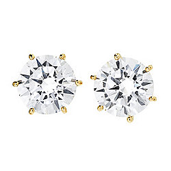 Victoria Wieck for Brilliante® 14K Gold Choice of Size Simulated Diamond Stud Earrings